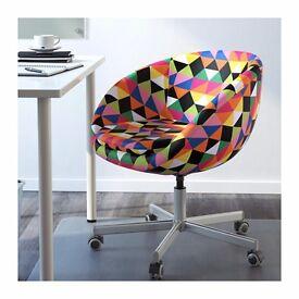 Ikea coloured swivel chair