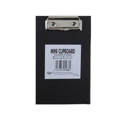 Black Mini Clipboard - Small Pocket A6 Clip Board Tiger 301438