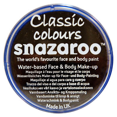 Snazaroo 18ml BLACK FACE PAINT Fancy Dress Party Stage MakeUp Halloween Scary (Scary Face Paint Halloween)