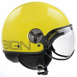MOMO FGTR Glam Yellow Scooter Helmet - Medium