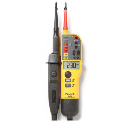 Fluke T150 Digital Voltage Continuity Tester - With Ohms 4016977
