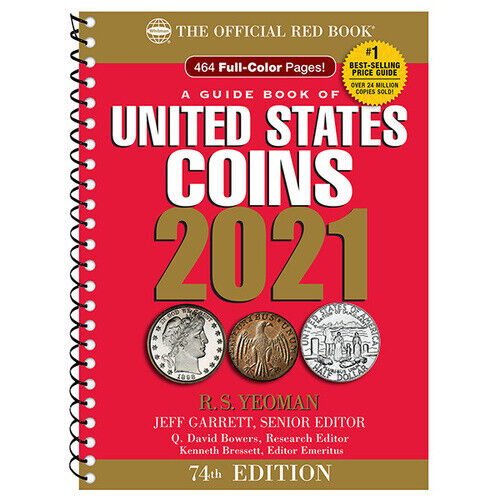 2021 RED BOOK GUIDE OF UNITED STATES COINS SPIRAL 74TH EDITION NEW FREE SHIP!