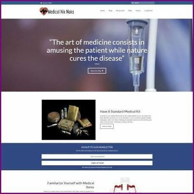 Medical Supplies Website Business For Sale - Working From Home Domain Hostin