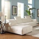 Coaster Leather Modern Sectional Sofas, Loveseats & Chaises