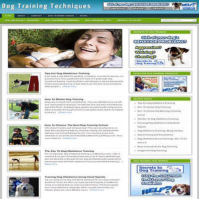 Established Dog Obedience Affiliate Website Turnkey Business Free Hosting