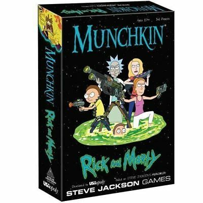 Munchkin   Rick And Morty Card   Board Game Anime Adult Swim