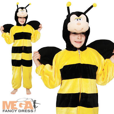 Kid's Bumblebee Insect Fancy Dress Bug Party Boys Girls Child Costume Ages 3-11