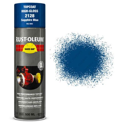 x16 Rust-Oleum Sapphire Blue Industrial Spray Paint Hard Hat Brand 500ml RAL5003