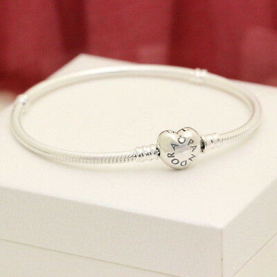 Authentic Pandora Heart Clasp Bracelet Multiple Sizes 590719 Mothers Day Sale
