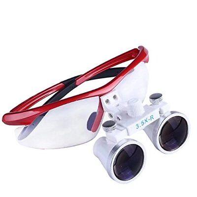 3.5x-r Binocular Optical Dental Glass Head Loupe Surgical Surgery Flip Tool