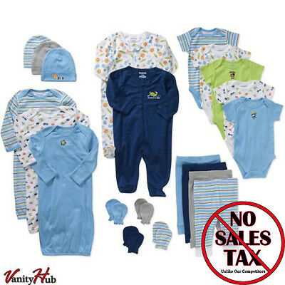 21 Piece Newborn Baby Boy Clothes Set 0-3 Months Outfit Infant Shower Gift Lot