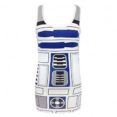 Original Star Wars I Am R2D2 Roboter Junior Kostüm Tank Tunika Kleid Hemd S-XXL