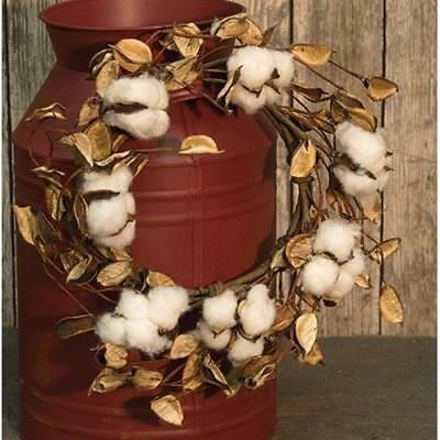 Hanging Wreath Featuring Cotton Pods And Shells