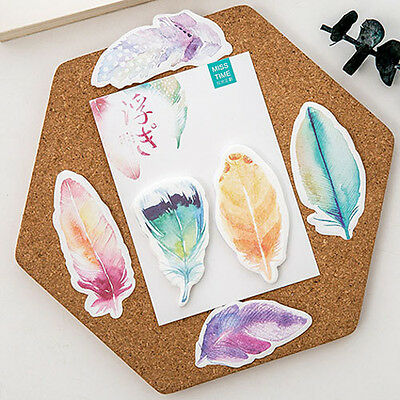 Fantastic Floating Feather Mini Memo Pad Sticky Notes School Supply Bookmark