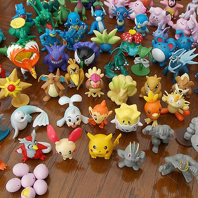 24pcs Wholesale Mixed Lots Pokemon Pikachu Monster Mini Random Pearl Figures Toy