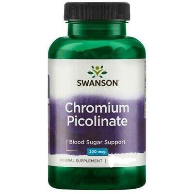 Chromium Picolinate Blood Sugar Support 100 capsules 200 mcg