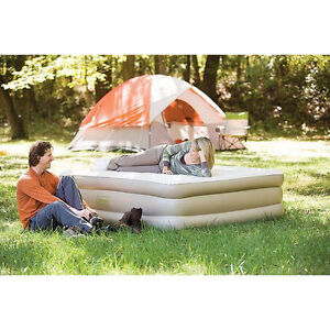 Coleman Double High Inflatable Matress w/ Built in Pump