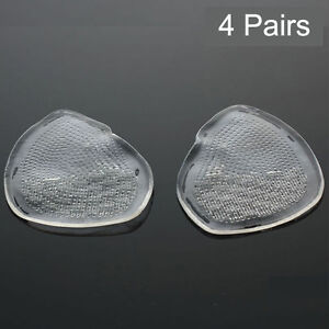 4 Pairs Ball of Foot GEL CUSHION Feet Pad Insoles for High Heeled Shoe Sandals