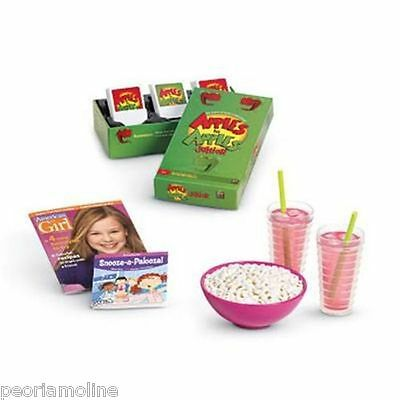 Girls Sleepover Set - American Girl Doll SLEEPOVER SET Party Accessories~Apples to Apples® Game~Food