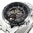 Stainless Steel Automatic Skeleton Watch