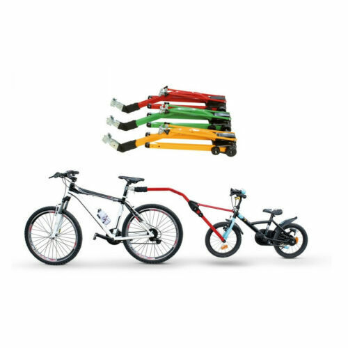 """Peruzzo Trail Angel Kids Bicycle Tow Bar Tag Along For 10"""" - 24""""  - Green"""