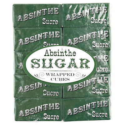 ABSINTHE SUGAR (French)  25 packets, 50 cubes.
