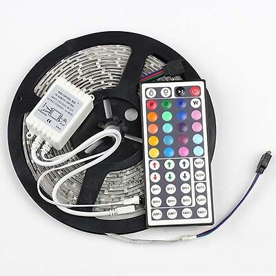 5M Waterproof SMD 3528 LED Strip Light 300 Leds Flash RGB +44K IR Remote Control on Rummage
