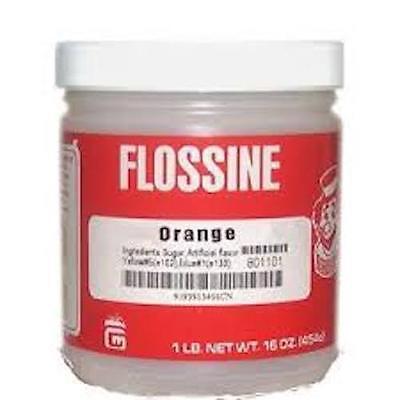 Cotton Candy Sugar Flossine Orange 3458cn 1 Jar