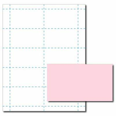 Pink Business Card Printer Paper 25 Sheets Yields 250 Cards