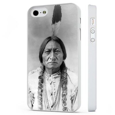 Sitting Bull Native American Sioux Indian WHITE PHONE CASE COVER fits iPHONE Native American Indian Cover