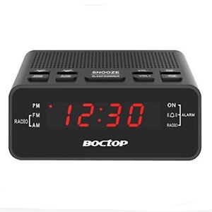 Alarm Clock Radio, Digital Alarm Clock, AM/FM Radio with Snooze,