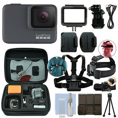 GoPro HERO7 Silver 10 MP Waterproof 4K Camera Camcorder + Ultimate Action Bundle