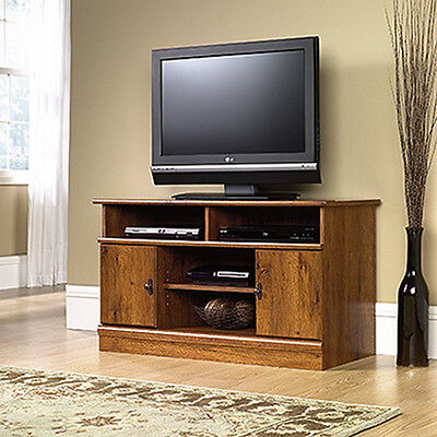 مكتبة تلفزيون جديد Panel TV Stand – Abbey Oak – Harvest Mill Collection (407432)