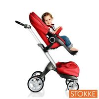 Stokke Xplory in red, great condition + free Maxi Cosi car seat