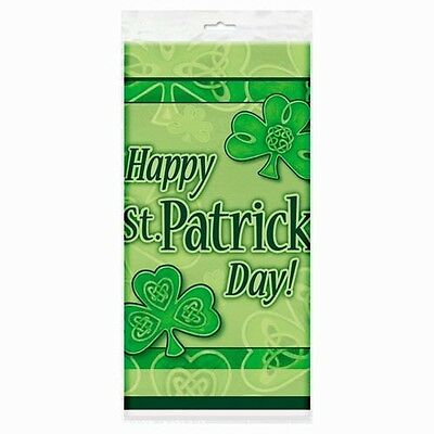 ST PATRICK'S DAY CLOVER PLASTIC TABLE COVER ~ Party Supplies Decorations Green
