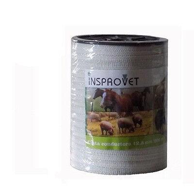 Cinta conductora para pastor eléctrico 12,5 mm / 200m para cercados (vacas...)