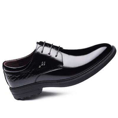 Details about  /Brogue Mens Dress Formal Business Shoes Pointy Toe Oxfords Slip on Party Work L