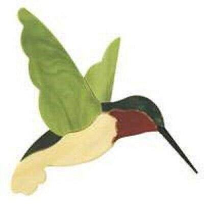 Stained Glass Supplies - Precut Kit Hummingbird Suncatcher for foiling/lead