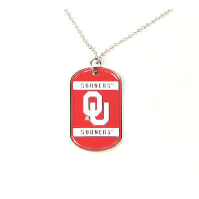 Oklahoma Sooners College Official Dog Tag / Neck Tag - Necklace CLOSEOUT  College Dog Tag