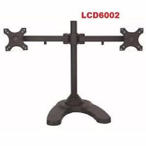 Weekly Promo! TygerClaw LCD6002 Dual-Arm Monitor Desk Mount
