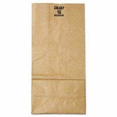 General #16 Paper Grocery Bags, 57 lb Weight, Brown Kraft, 500 Bags (BAGGX16)