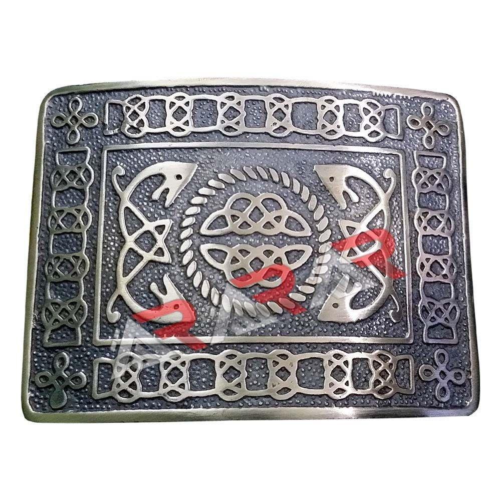Scottish Celtic Design Kilt Belt Buckle High Quality Black Antique Finish