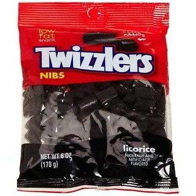 BLACK LICORICE NIBS - FRESH - THREE 6OZ PACKAGES - BEST