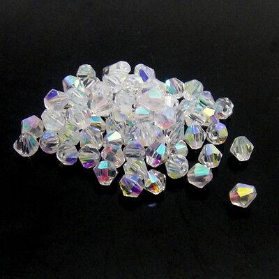 #5301 jewelry 3mm  Swarovski Crystal Bicone bead 1000pcs White AB ()