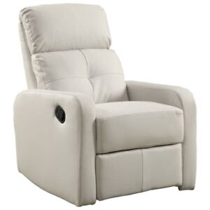 Kidiway Santa Maria Bonded Leather Glider -WHITE- NEW IN BOX