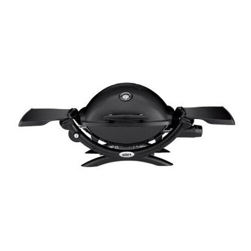 Weber Q 1200 Single Burner Portable Tabletop Propane Gas Grill Tailgate Camping