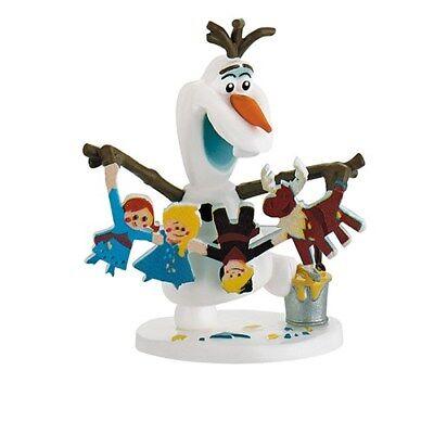 Frozen Birthday Cake Ideas (Disney Frozen Olaf and Gingerbread Cake Topper, Birthday Cake)