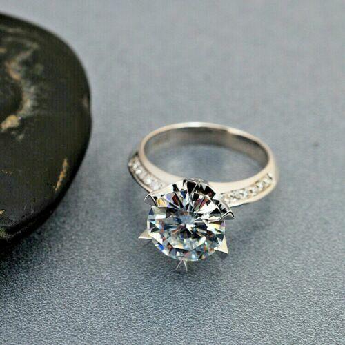 2.20Ct White Moissanite Prong Engagement & Wedding Ring Set