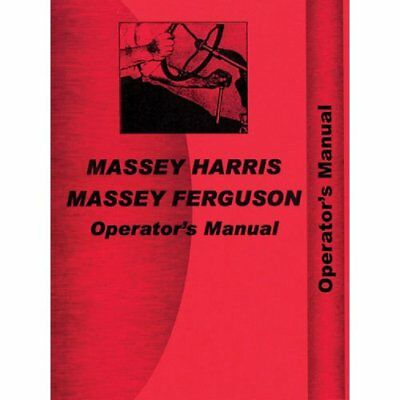 Operators Manual - 33 Massey Harris 33 33