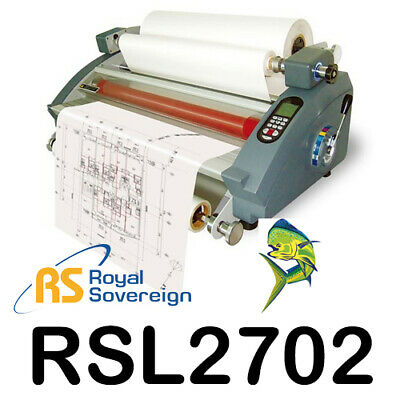 Royal Sovereign Rsl-2702 27 Table Top Hot Cold Roll Laminator With Mounting